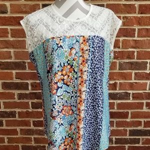 Faith and Joy NWT lace detail top size XL